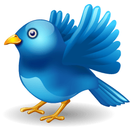 Twitter Bird Landing Sticker