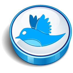 Twitter Bird Blue Coin Sticker