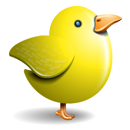Twitter Bird Yellow Sticker