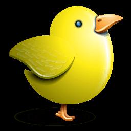 Twitter Bird Yellow Sticker