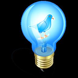 Twitter Bulb Sticker