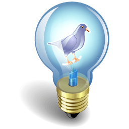 Twitter Bulb Purple Sticker