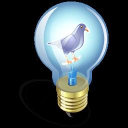 Twitter Bulb Purple Sticker
