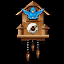 Twitter Cuckoo Clock Sticker