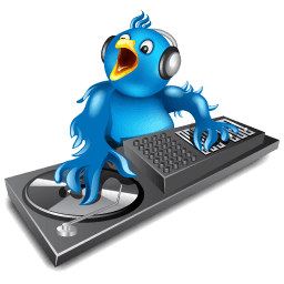 Twitter Dj Sticker