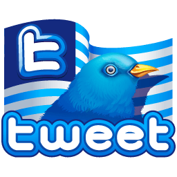 Twitter Flag Sticker