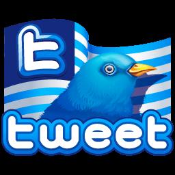 Twitter Flag Sticker