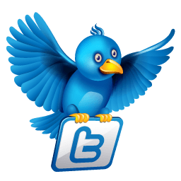 Twitter Flying Sticker