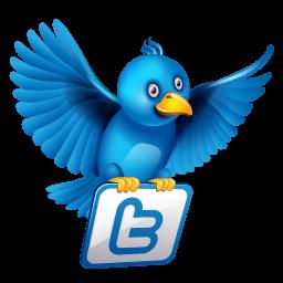 Twitter Flying Sticker