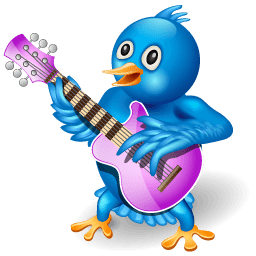 Twitter Guitar Sticker