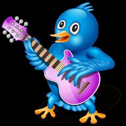 Twitter Guitar Sticker