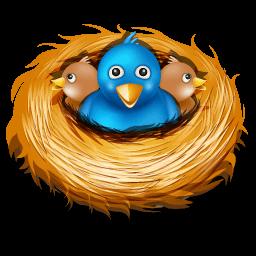 Twitter Nest Sticker
