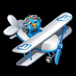 Twitter Plane Sticker