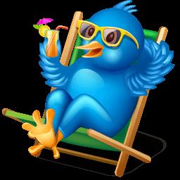 Twitter Relax Sticker