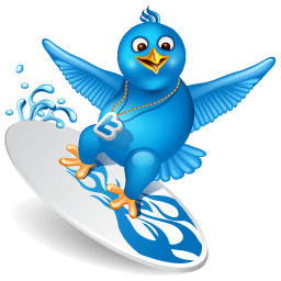Twitter Surf Sticker