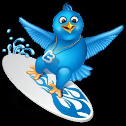 Twitter Surf Sticker