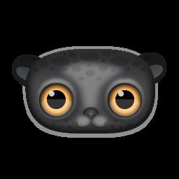Black Leopard Sticker