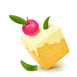 Box Cake Cherry Sticker