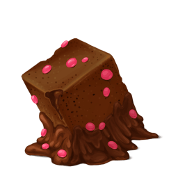 Box Cake Chocolate Sticker