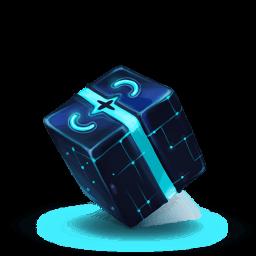 Box Blue Sticker