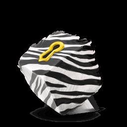 Box Zebra Sticker