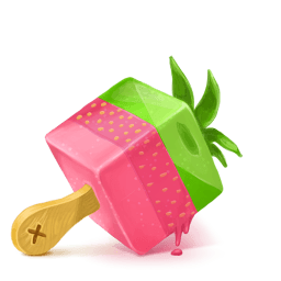 Box Ice Cream Strawberry Sticker