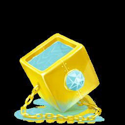 Box Water Diamond Sticker