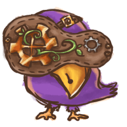 Steampunk Bird Sticker