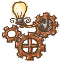 Steampunk Light Sticker