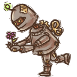 Steampunk Robot Sticker