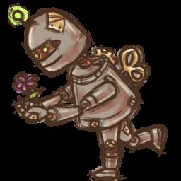 Steampunk Robot Sticker