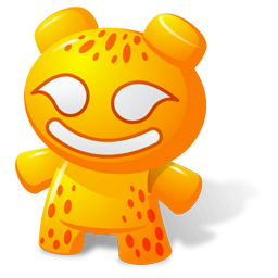 Orange Toy Sticker