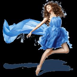 Girls Blue Dress Sticker