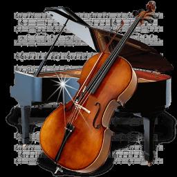 Music Piano Chello Sticker