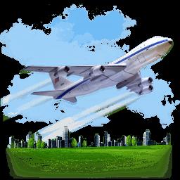 Travel Airplane Sticker