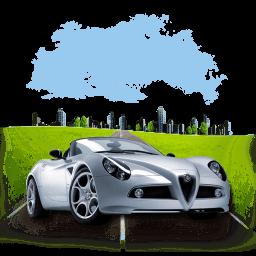 Travel Alpha Romeo Sticker