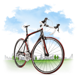 Travel Bicycle Sticker