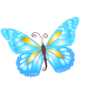 Butterfly Blue Sticker