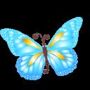 Butterfly Blue Sticker