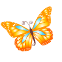Butterfly Orange Sticker