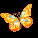 Butterfly Orange Sticker