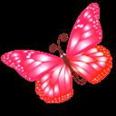 Butterfly Pink Sticker