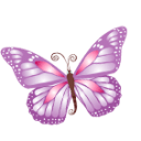 Butterfly Purple Sticker