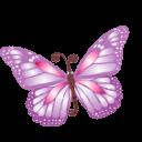 Butterfly Purple Sticker