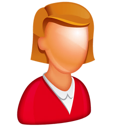 Caucasian Female Boss Sticker