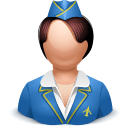 Airhostess Woman Sticker