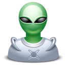 Alien Male Sticker