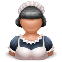 Maid Girl Sticker