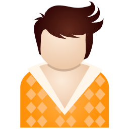 Orange Boy Sticker
