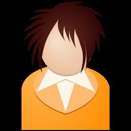 Orange Girl Sticker